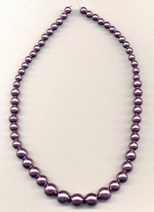 15'' LT Purple Graduated Glass Pearls