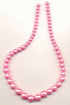 15'' Pink Graduated Glass Pearls