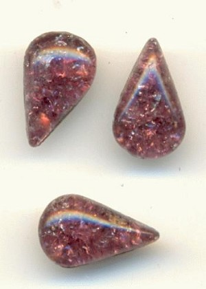 10x6mm Amethyst Icicle Pear RS