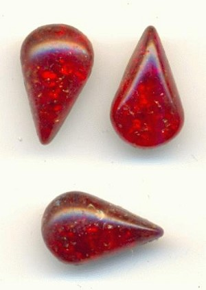 10x6mm Siam Ruby Icicle Pear RS