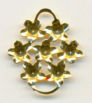 2 Ring Gold Plated Flower Cluster