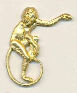 35x28.5mm Monkey with Left Arm Up