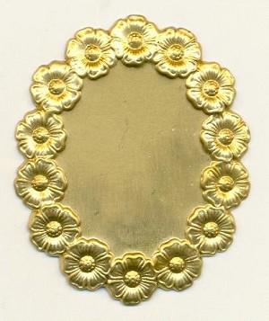 55x45mm Floral Framed Stampings