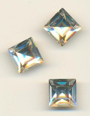 10mm Swarovski Crystal Square RS