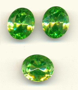 12x10mm Swarovski TTC Peridot Oval RS