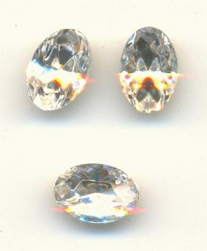 6x4mm Swarovski TTC Crystal Oval RS