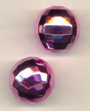 25mm Acrylic Pink Disco Ball Beads