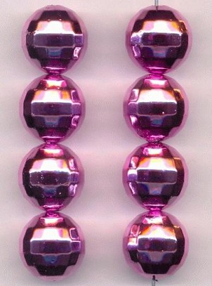 16mm Acrylic Pink Disco Ball Beads