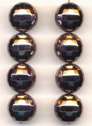 16mm Acrylic Gunmetal Disco Ball Beads