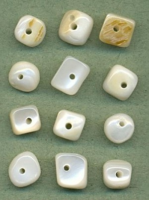 Mixed Mother of Pearl Nugget Beads