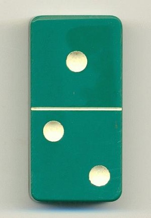 Bakelite Green Domino
