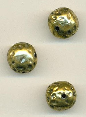 13mm Gold Plastic Beads