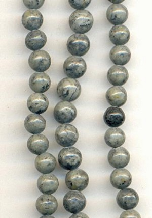4mm Gray Fossil Beads