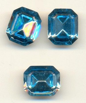 12x10mm TTC Swarovski Aqua Octagon RS