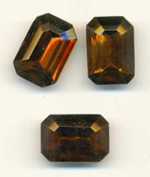 16x11mm Smoked Topaz Octagons
