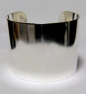 2'' Plain Sterling Silver Plated Cuff