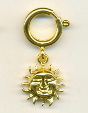 16mm GP Sun Charm with Spring Clasp