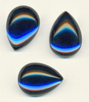 18x13mm Acrylic Sapphire Pear Cabochons
