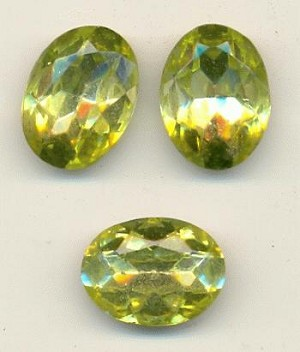 18x13mm Jonquil Glass Oval Rhinestones