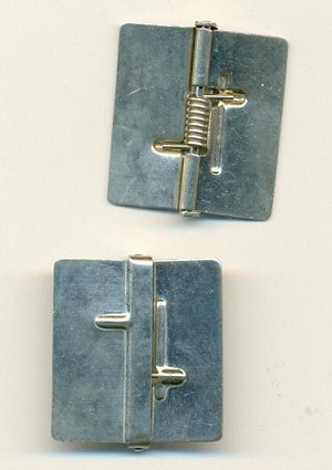 1'' (26mm) Nickel Plated Spring Hinges