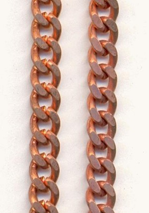 5mm Copper Coated Steel Curb Chain