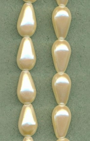 12x7mm Acrylic Off White Pearls