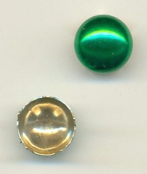 9mm Metallic Green Domed Nailheads