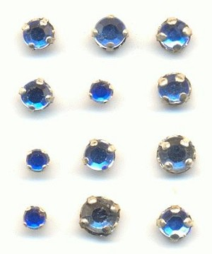 Mixed Sapphire Rose Montees Sew Ons