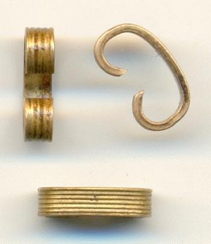 9.5x2.5mm Brass Ribbed Connectors