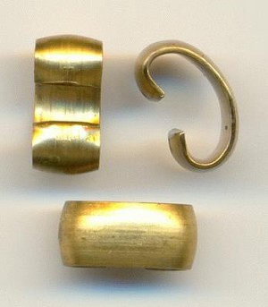 10x4.75mm Smooth Brass Connectors