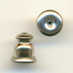 6x5mm Silver Ear Nuts