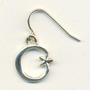 16x13mm SP Cast Moon/Star Charm-Right