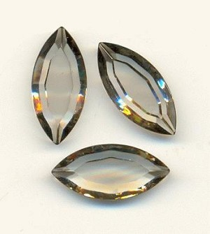 15x7mm TTC Swarovski Black Diamond Nav