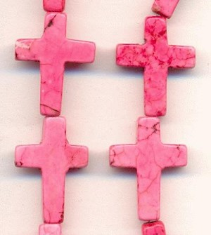 16x12mm Pink Magnesite Cross