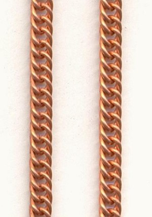3.8mm/5mm Copper Coated Steel Curb Chain