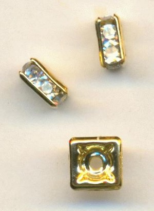 5mm GP Square Crystal Rondelles