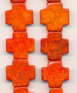 20mm Orange Magnesite Equal Side Crosses