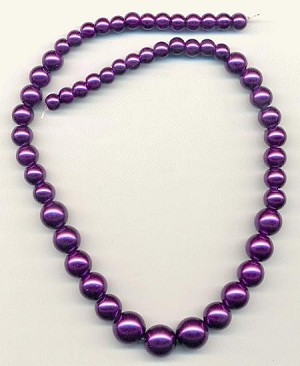15'' Purple Graduated Pearl Strands