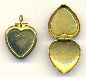 15mm Heart Shaped Locket W/Recess
