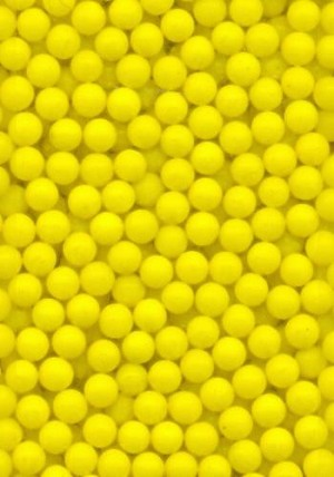2.6mm Yellow Glass No Hole Beads