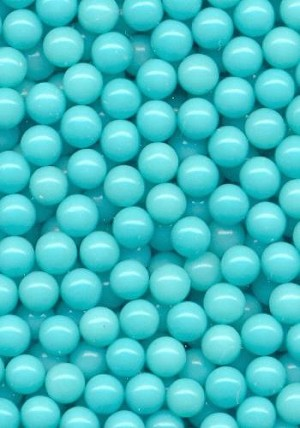 3.5mm Turquoise Plastic No Hole Beads