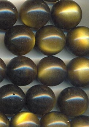 15mm Brown/Tan Partially Drilled Beads