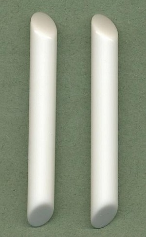 75x10mm White Slanted Lucite Cylinders