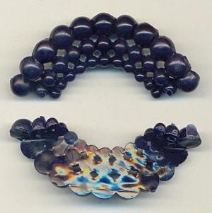 2 1/4'' by 3/4'' Blue Plastic Fili/Cluster