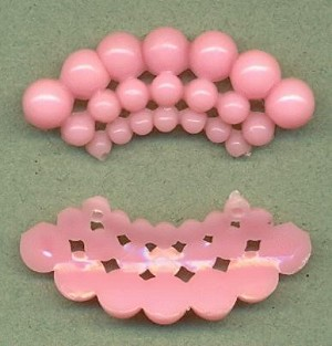 1 3/4'' by 3/4'' Pink Plastic Fili/Cluster