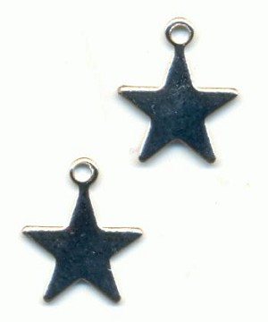 12x9.5mm SP Flat Star Charms