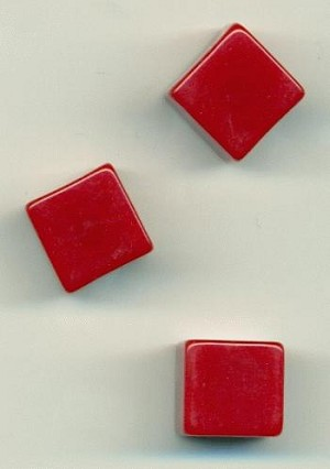 12.5mm Red Lucite Cube