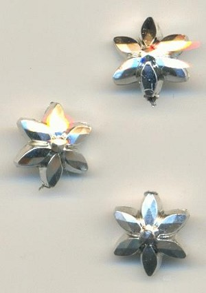 10x6mm SP Metalized Plastic Flower Bead