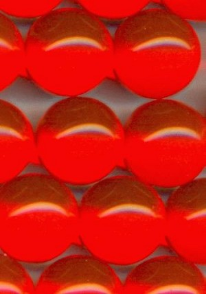 14mm Orange Lucite No Hole Beads