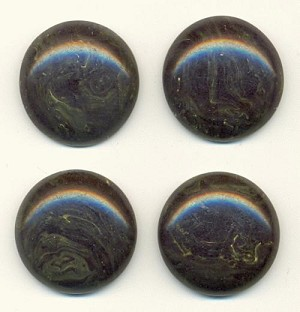22mm Dark Green Bakelite Cabochons